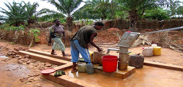 Wells bring potable water to communities.