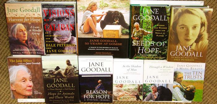 Dr. Goodall has written more than 30 books.