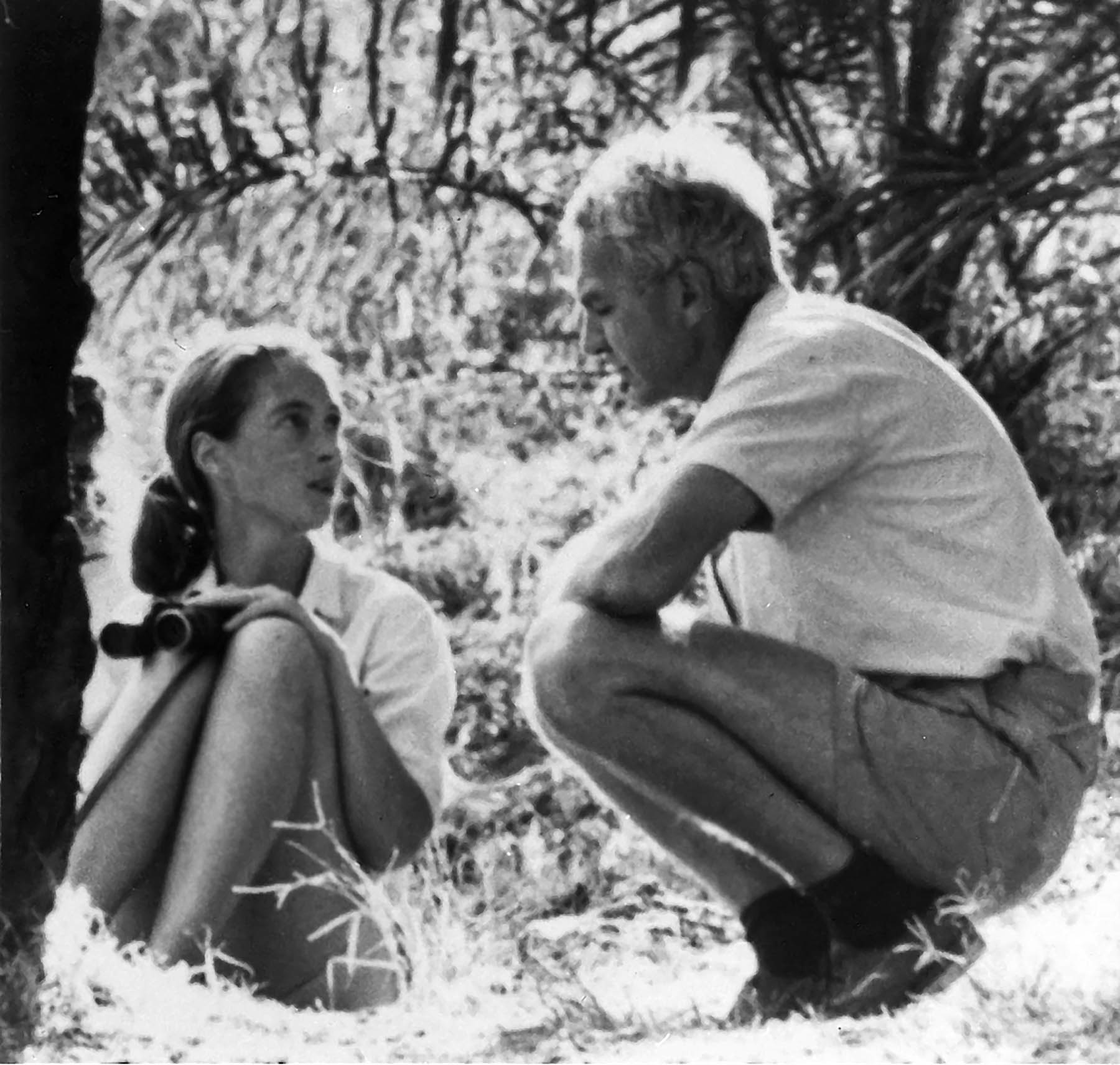 Jane Goodall and Robert Hinde in Gombe Stream Chimpanzee Reserve