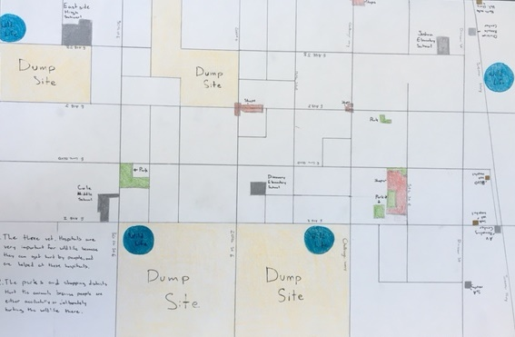 Eastside High School's Roots & Shoots Community Map