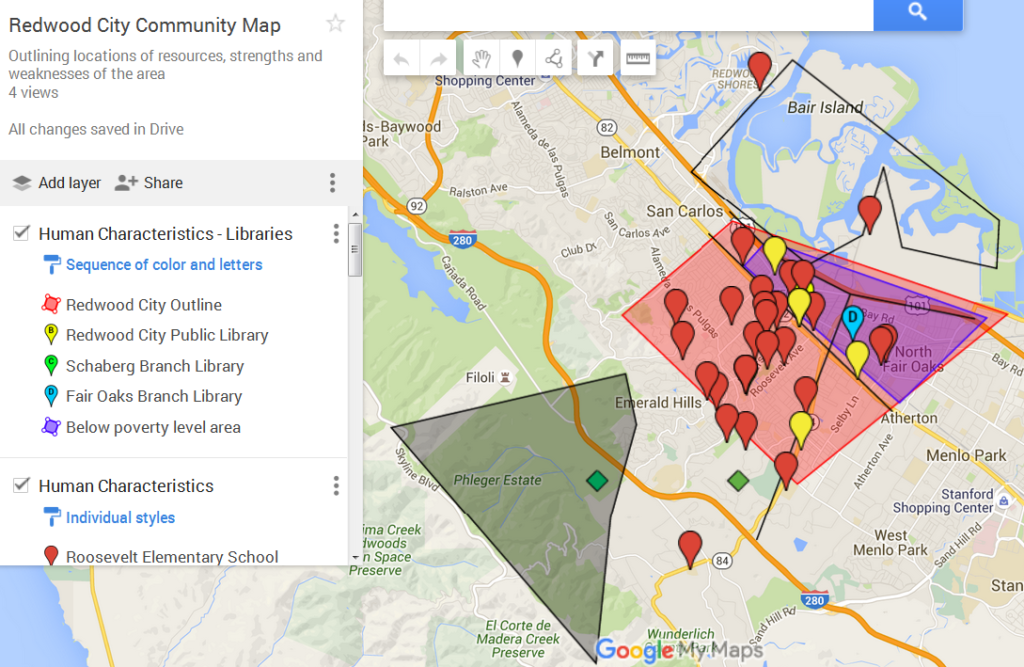 Redwood City Community Map