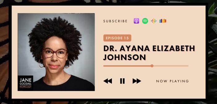 Jane Goodall Hopecast Podcast Ep 15: Dr. Ayana Elizabeth Johnson